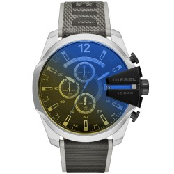 Diesel DZ4523 Herren-Uhr Mega Chief Chronograph Quarz mit Nylon-Armband Ø 51 mm