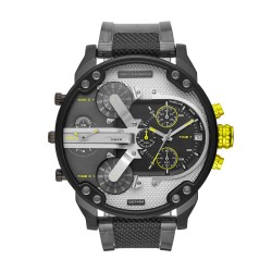 Diesel DZ7422 Herrenuhr Mr. Daddy 2.0 Chronograph Quarz mit Polyurethan-Band Ø 57 mm