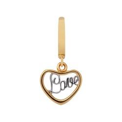 Endless 35300 Charm-Anhänger Love Silber Gelb-Gold