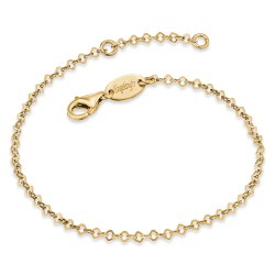 Engelsrufer ERB-LILLACE-G Armband Damen Fein Lace Silber Gold Plated