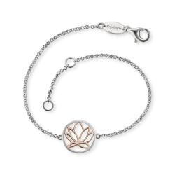 Engelsrufer ERB-LILLOTUS-BI Armband Damen Lotus Silber Rosé