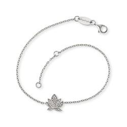 Engelsrufer ERB-LILLOTUS-ZI Armband Damen Lotus Silber mit Zirkonia