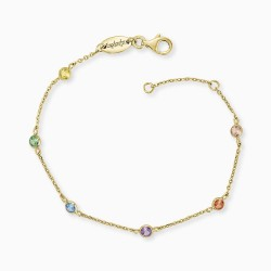 Engelsrufer ERB-LILMOON-ZIM-G  Armband Monnlight Gold Zrikonia Multicolor