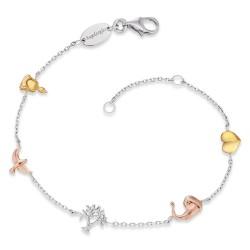 Engelsrufer ERB-LILTREE-TRICO Armband Damen Lebensbaum Tricolor
