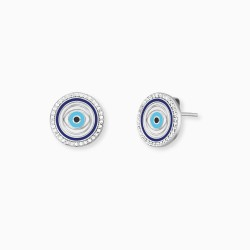 Engelsrufer ERE-EYE-ZIM-ST Ohrstecker Damen Lucky Eye Silber Zrikonia