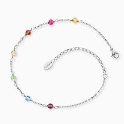 Engelsrufer ERFS-RAINBOW Fußkettchen Glasperlen Multicolor