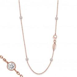 Engelsrufer ERN-80-LILMOON-ZI-R Kette Moonlight Rosé Plated 80 cm