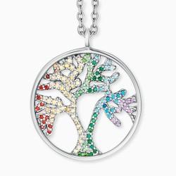 Engelsrufer ERN-TREE-ZIM Halskette mit Anhänger Damen Lebensbaum Silber Zirkonia