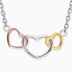 Engelsrufer ERN-WITHLOVE-03 Halskette Damen 3 Herzen Silber Gold Rosé