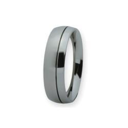 Ernstes Design R137.6 Ring Herren Edelstahl Mattiert Rille Gr. 64