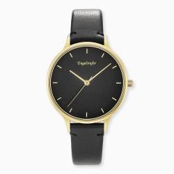 Engelsrufer ERWA-COLOUR-LBK2 Damen-Uhr Colour Analog Quarz Gold Schwarz