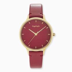 Engelsrufer ERWA-COLOUR-LRD1 Damen-Uhr Colour Analog Quarz Gold Rot