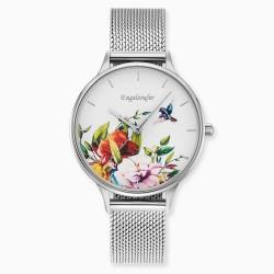 Engelsrufer ERWA-FLOWER1-MS-MS Damenuhr Blume Quarz mit Edelstahl-Armband