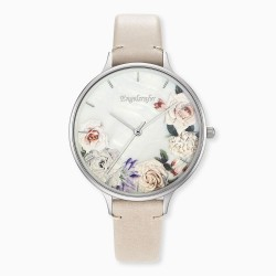 Engelsrufer ERWA-FLOWER2-LBE1 Damen-Uhr Blume Analog Quarz