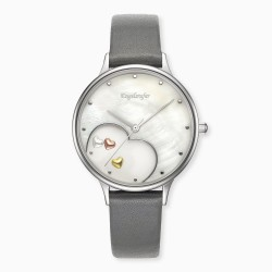 Engelsrufer ERWA-HEART-LGY1 Damen-Uhr Happy Hearts Analog Quarz Silber