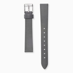 Engeslrufer ERWAB-14-LGY1-S Uhren-Armband Wechselband Leder Grau 14 mm