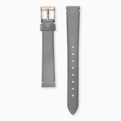 Engeslrufer ERWAB-14-LGY2-R Uhren-Armband Wechselband Leder Grau 14 mm