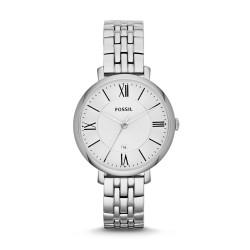 Fossil ES3433 Damen-Uhr Jacqueline Edelstahl Silber-Ton Datum Ø 36 mm