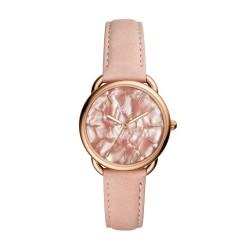 Fossil ES4419 Damen-Uhr Tailor Leder Rosé-Ton Rosa 3-Zeiger Ø 35 mm