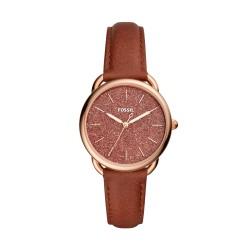 Fossil ES4420 Damen-Uhr Tailor Leder Terracotta Rosé-Ton Ø 35 mm