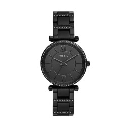 Fossil ES4488 Damen-Uhr Carlie Analog Quarz mit Edelstahl-Armband Ø 35 mm