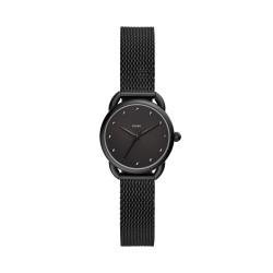 Fossil ES4489 Damen-Uhr Tailor Analog Quarz mit Edelstahl-Armband Ø 26 mm