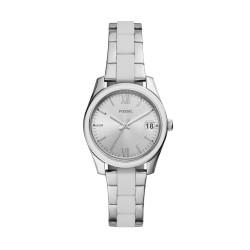 Fossil ES4590 Damen-Uhr Scarlette Mini Analog Quarz mit Edelstahl-Band Datum