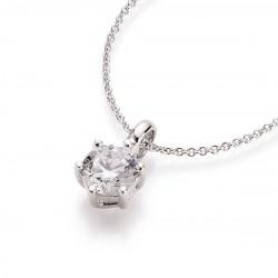 Karat 99000193450 Halskette mit Anhänger Damen Sterling-Silber Zirkonia