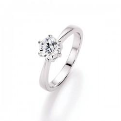 Karat 93000193560 Ring Brillantschliff Sterling-Silber Zirkonia Gr. 56