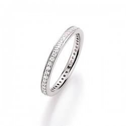 Karat 93000693560 Ring Damen Sterling-Silber Zirkonia Weiss Gr. 56