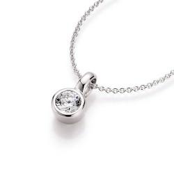 Karat 99001393450 Halskette mit Anhänger Damen Silber Zirkonia Weiss