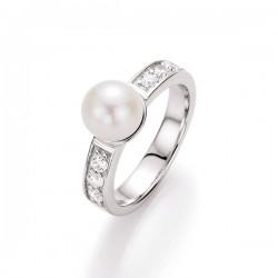 Karat 93002693 Ring Damen Zucht-Perle Sterling-Silber Zirkonia