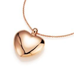 Karat 99004397430 Halskette mit Anhänger Damen Herz Silber Rosé Vergoldet