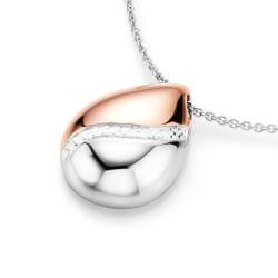 Karat 99011093450 Halskette mit Anhänger Damen Tropfen Sterling-Silber Rosé Zirkonia