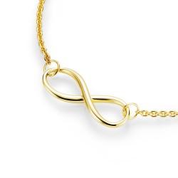 Karat 99011591450 Halskette mit Anhänger Unendlichkeit Infinity Sterling-Silber Vergoldet