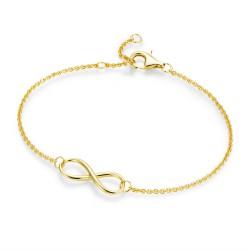 Karat 92003691190 Armband Damen Unendlichkeit Infinity Sterling-Silber Vergoldet