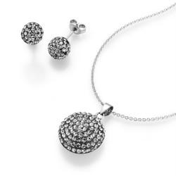 Karat 99011793450 Set Ohrringe Kette mit Anhänger Damen Swarovski Sterling-Silber