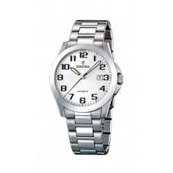 Festina F16376/7 Herren-Uhr Klassik Edelstahl Silber-Ton Datum Ø 40 mm