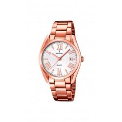 Festina F16793/1 Damen-Uhr Trend Boyfriend Rosé-Ton Ø 37 mm