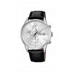 Festina F20284/1 Herren-Uhr Timeless Chronograph Quarz mit Leder-Band