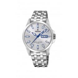 Festina F20357/1 Herren-Uhr Klassik Analog Quarz mit Edelstahl-Armband