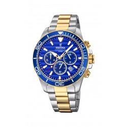 Festina F20363/2 Herren-Uhr Prestige Chronograph Quarz Edelstahl-Armband