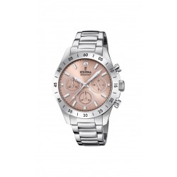Festina F20397/3 Damen-Uhr Boyfriend Chronograph Quarz Edelstahl-Armband