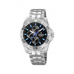 Festina F20445/6 Herren-Uhr Multifunktion Quarz mit Edelstahl-Armband