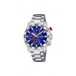 Festina F20457/2 Herren-Uhr Junior Chronograph Quarz mit Edelstahl-Armband