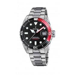 Festina F20480/4 Herren-Uhr Analog Automatik mit Edelstahl-Armband
