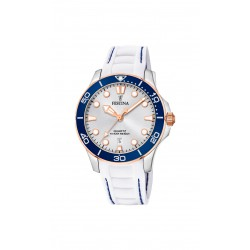 Festina F20502/1 Damen-Armbanduhr Analog Quarz Datum mit Silikon-Band