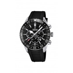 Festina F20515/2 Herren-Armbanduhr Chronograph Quarz mit Silikon-Band Ø 44 mm