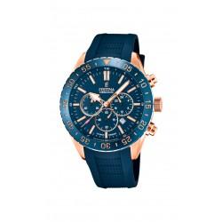 Festina F20516/1 Herren-Armbanduhr Chronograph Quarz mit Silikon-Band