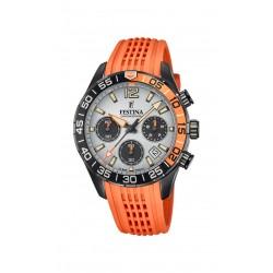 Festina F20518/1 Herren-Armbanduhr Chronograph Quarz mit Silikon-Band